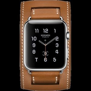 Hermès Apple Watch Cuff Band 42 44 Fauve Barenia